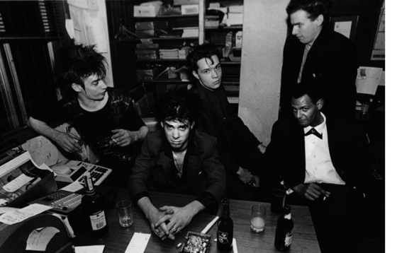 Nick Cave and the Bad Seeds, 1984, San Francisco (by Stanley Greene)