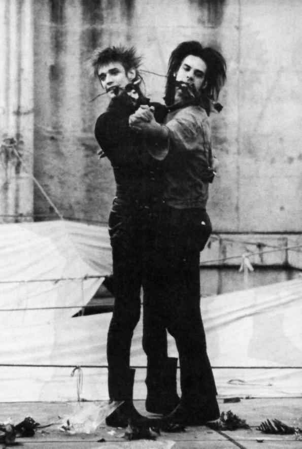 Blixa Bargeld & Nick Cave c. Oct 1985, Japan