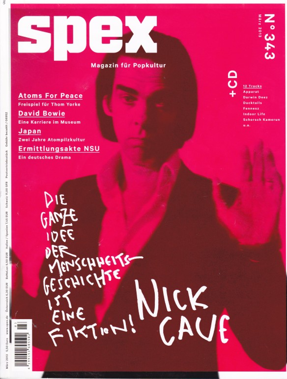 Nick Cave by Nic Shonfeld - Spex March 2013
